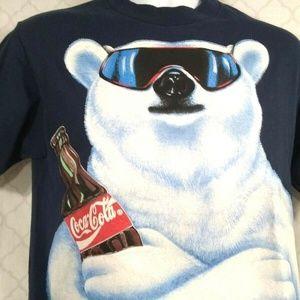 Vintage Coca Cola1994 Men L Made USA Polar Bear